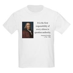 Benjamin Franklin 17 Kids Light T-Shirt