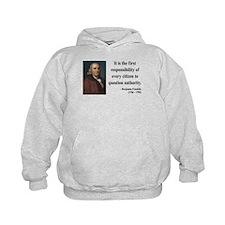 Benjamin Franklin 17 Hoodie