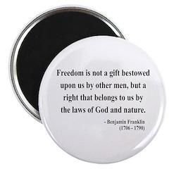 """Benjamin Franklin 19 2.25"""" Magnet (100 pack)"""