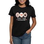 Peace Love Bullmastiff Women's Dark T-Shirt