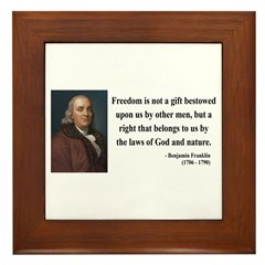 Benjamin Franklin 19 Framed Tile