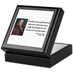 Benjamin Franklin 19 Keepsake Box