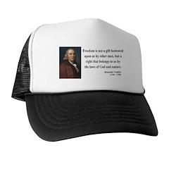 Benjamin Franklin 19 Trucker Hat