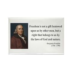 Benjamin Franklin 19 Rectangle Magnet
