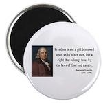 Benjamin Franklin 19 Magnet