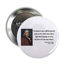 "Benjamin Franklin 19 2.25"" Button (10 pack)"