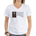 Benjamin Franklin 19 Women's V-Neck T-Shirt