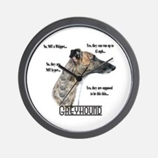 Greyhound FAQ Wall Clock