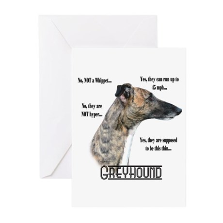 Greyhound FAQ Greeting Cards (Pk of 20)