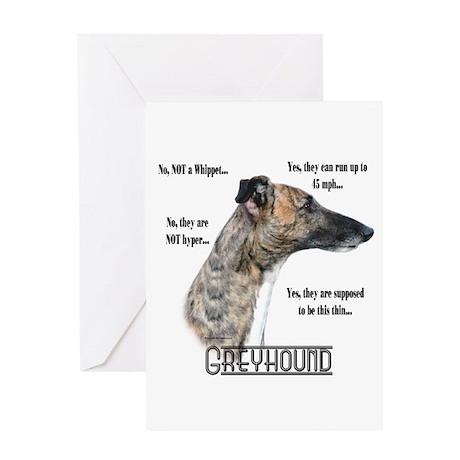 Greyhound FAQ Greeting Card
