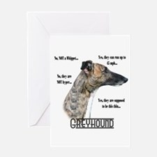 Greyhound FAQ Greeting Card