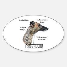 Greyhound FAQ Oval Decal