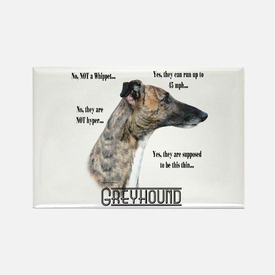 Greyhound FAQ Rectangle Magnet