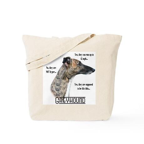 Greyhound FAQ Tote Bag