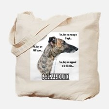Greyhound FAQ Tote Bag