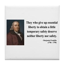 Benjamin Franklin 1 Tile Coaster