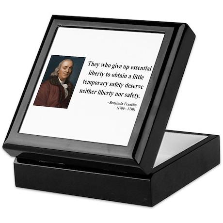 Benjamin Franklin 1 Keepsake Box