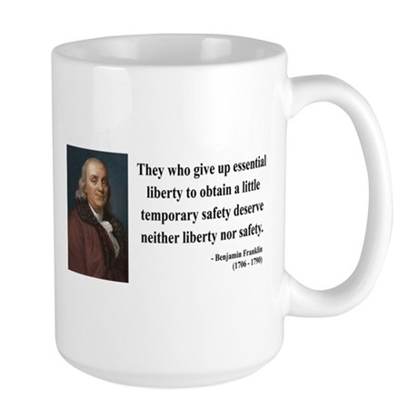 Benjamin Franklin 1 Large Mug