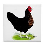 Black Sex-link Hen Tile Coaster