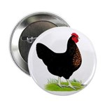 "Black Sex-link Hen 2.25"" Button"