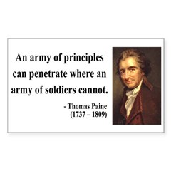Thomas Paine 4 Rectangle Decal