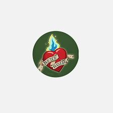 Bette Noir Heart Mini Button - Green
