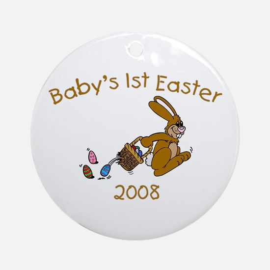 Baby's 1st Easter (Hopping Bu Ornament (Round)
