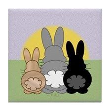 Rabbittude Posse Tile Coaster