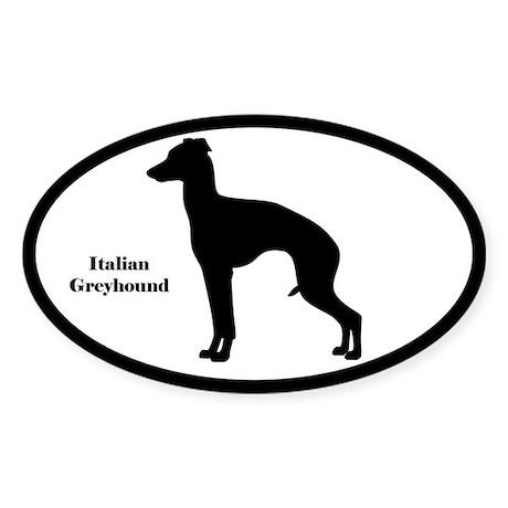 Italian Greyhound Silhouette Sticker