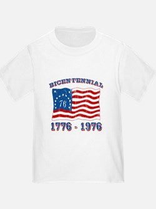 Retro 1776-1976 Flag T