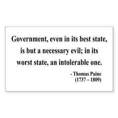 Thomas Paine 2 Rectangle Decal