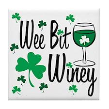 Wee Bit Winey Tile Coaster