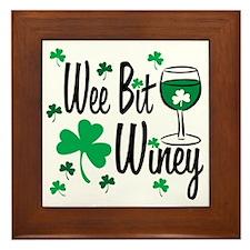 Wee Bit Winey Framed Tile