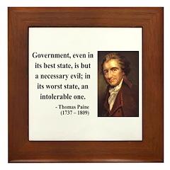 Thomas Paine 2 Framed Tile