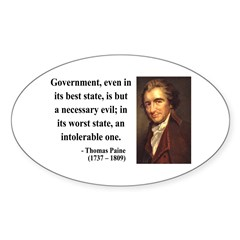 Thomas Paine 2 Oval Decal