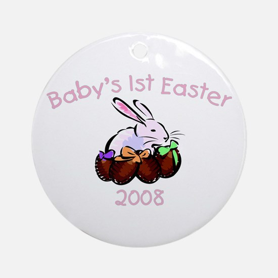 Baby's 1st Easter (Eggs) Ornament (Round)