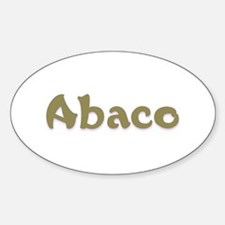 Abaco Oval Decal