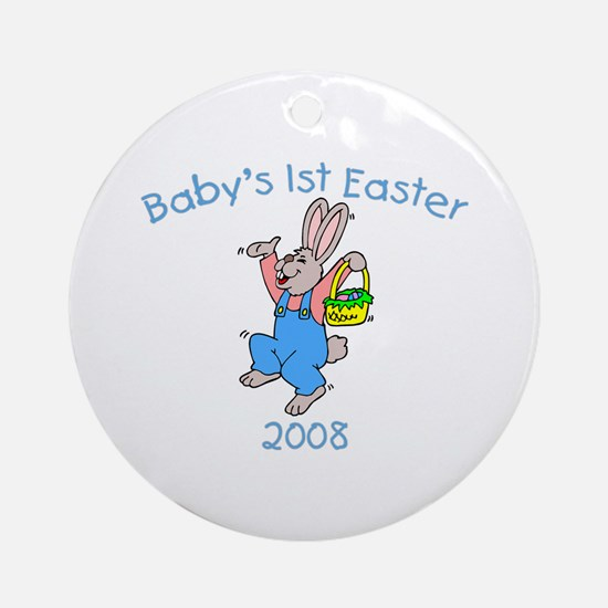 Baby's 1st Easter (Bunny) Ornament (Round)