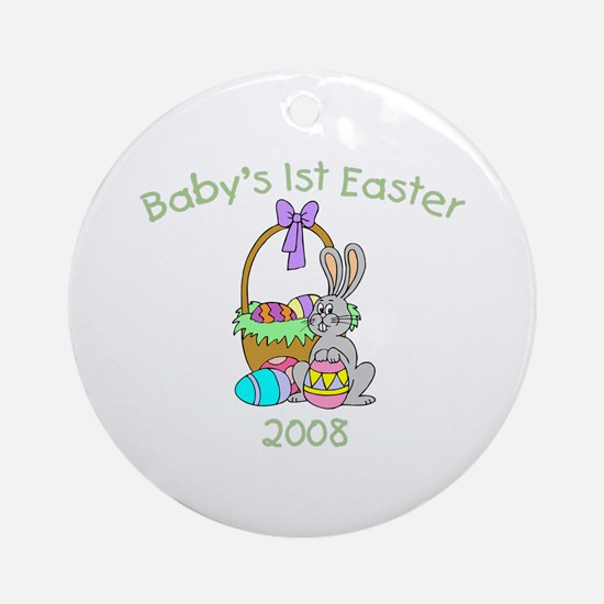 Baby's 1st Easter (Basket) Ornament (Round)
