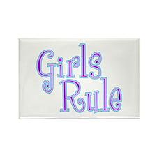 Girls Rule Rectangle Magnet