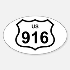 US 916 Oval Decal