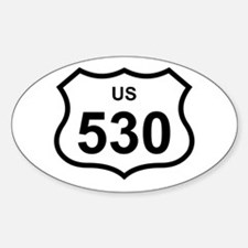 US 530 Oval Decal