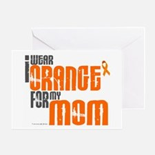 I Wear Orange For My Mom 6 Greeting Card