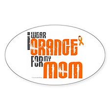 I Wear Orange For My Mom 6 Oval Decal