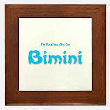 I'd Rather Be...Bimini Framed Tile