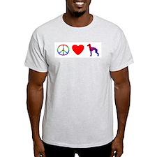 Peace Love Italian Greyhound T-Shirt