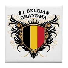 Number One Belgian Grandma Tile Coaster