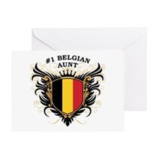 Number One Belgian Aunt Greeting Card