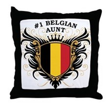 Number One Belgian Aunt Throw Pillow