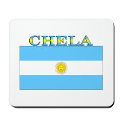 Chela Argentina Flag Mousepad